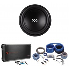 "RE Audio XX15D2 V2 15"" 1500W Dual 2-Ohm Car Sub Subwoofer+Mono Amplifier+Amp Kit"