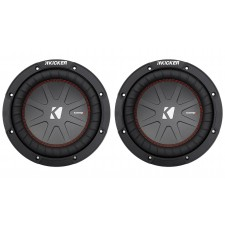 """(2) Kicker 43CWR84 COMPR8 1200w 8"""" 4-Ohm DVC Car Stereo Subwoofers Subs CWR8-4"""