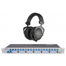 Beyerdynamic DT-770 Pro 32 Ohm + Presonus HP60 6 Channel Headphone Amplifier Amp