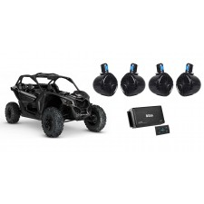 """4 8"""" Tower Speakers for Can-Am MAVERICK X3/X3 Max+4-Ch Bluetooth Amplifer+Remote"""