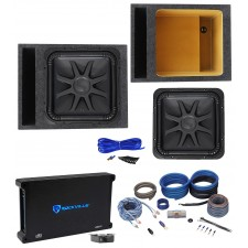 "Kicker L7S154 15"" Solobaric L7S Car Subwoofer+Vented Box+Mono Amplifier+Amp Kit"