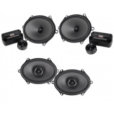 """Pair MTX THUNDER681 5x7""""/6x8"""" 360w Component Speakers+(2) 6x8"""" Coaxial Speakers"""