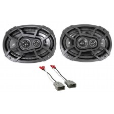 """6x9"""" Kicker Factory Deck Or Panel Speaker Replacement For 1999-2000 Honda Civic"""