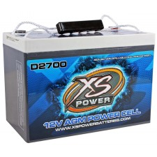 XS Power D2700 4300 Amp AGM Power Cell Car Audio Battery + Terminal Hardware