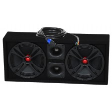 "QPOWER QCHERO10 250w RMS Chuchero Box 10"" Mids Speakers+Bullet Tweeters+Cable"