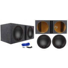 "(2) MTX 7515-44 15"" 1500 Watt RMS Car Audio Subwoofers+Vented Sub Box Enclosure"