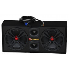 "QPOWER QCHERO10 Black 450w RMS Chuchero Box w/(2) 10"" Mids Speakers+(2) Tweeters"
