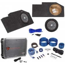 "2002-Up Dodge Ram Quad Cab Sub Box+Kicker 12"" Subwoofer+Mono Amplifier+Amp Kit"