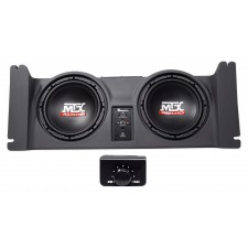 """Dual 10"""" Powered MTX Subwoofers+Sealed Sub Enclosure For 97-06 Jeep Wrangler TJ"""