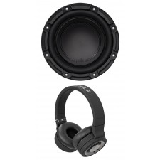 "Polk Audio DB842DVC 8"" 750 Watt Car/Marine Boat Audio Subwoofer Sub+Headphones"
