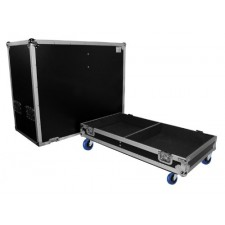 "ProX X-QSC-K10 Black Hard Travel Case For (2) QSC-K10 10"" DJ Speakers W/Wheels"