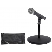 Samson Q8x Dynamic Microphone+Weighted Desktop Mic Stand For Studio/Podcasting