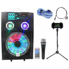 "NYC Acoustics 12"" Bluetooth Karaoke Machine/System 4 ipad/iphone/Android/Tablet"
