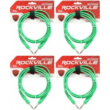 4 Rockville RCTR106G Green 6' 1/4'' TRS to 1/4'' TRS Cable 100% Copper
