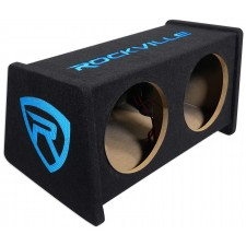 """Dual Rockville RV10.2A Enclosure for 10"""" Subwoofer+Firing Ports+Wire Terminals"""