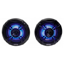 "Pair Memphis Audio MXA602SLB 80w 6.5"" LED Speakers For Polaris RZR/ATV/UTV/Cart"