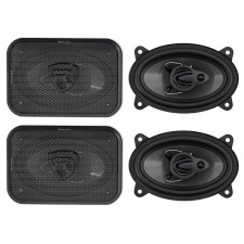 "(4) Rockville RV46.3A 4x6"" 3-Way Car Speakers 1000 Watts/140 Watts RMS CEA Rated"