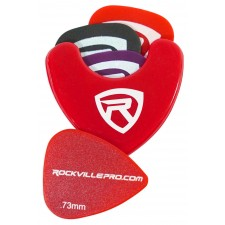 Rockville PH-Red Pick Holder with Sticky Adhesive - Holds 3 to 4 Picks