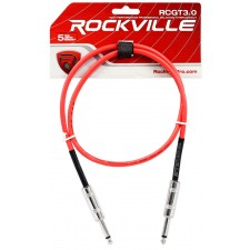 """6 Rockville 3'  1/4"""" TS to 1/4'' TS Guitar/Instrument Cable (6 Colors)"""