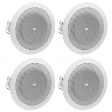 "(4) JBL 8124 4"" Full Range Commercial 70V/100V 6w Ceiling Speakers 4 Restaurant"