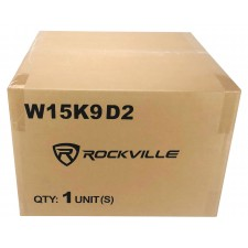 "(2) Rockville W15K9D2 15"" 10,000w Car Audio Subwoofers+Sealed Sub Box Enclosure"