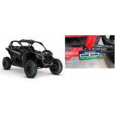 """Registration Green Sticker Mounting Plate+2"""" Clamps for Can-Am Maverick+4-Seat"""