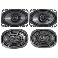 2) KICKER 43CSC6934 6x9 900w Car Audio Speakers+2) 43CSC464 4x6 300w Speakers
