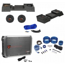 """Dual 10"""" Sub Enclosure+Subs+Amp+Kit For 01-16 Chevy Avalanche/Cadillac Escalade"""