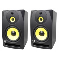 "2 Rockville DPM10B 10"" 400w Powered Studio Monitor Speakers For Electronic Drums"