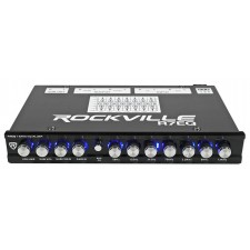 Rockville R7EQ 1/2 Din 7 Band Car Audio Equalizer EQ w/ Front, Rear + Sub Output