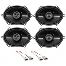 1997-1998 Lincoln Navigator Front+Rear Hifonics Speaker Replacement Kit