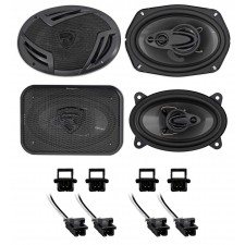 1997-2003 Chevrolet Chevy Malibu Rockville Front+Rear Speaker Replacement Kit