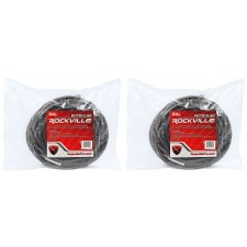 "2 Rockville RCTS1250 50' 12 AWG 1/4"" TS to Speakon Pro Speaker Cable 100% Copper"