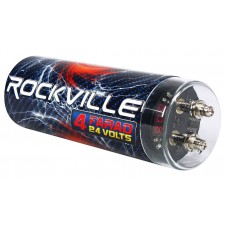 Rockville RDA0+4K 0+4 Gauge Dual Amplifier Installation Kit+4 Farad Capacitor