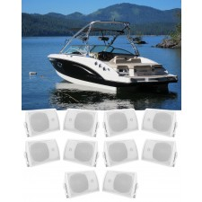 """(10) Rockville HP5S-8 5.25"""" Marine Box Speakers with Swivel Bracket For Boats"""