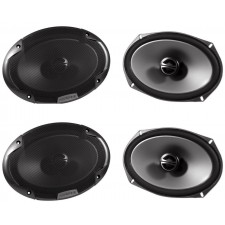 "2 Pairs of Alpine SPE-6090 6"" x 9"" 2 Way Car Stereo Speakers Totaling 600 Watts"