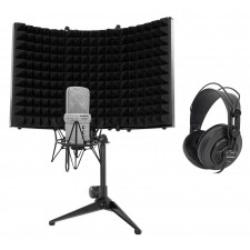Samson G-Track Recording Podcast USB Microphone+Interfacet+Headphones+Iso-Shield
