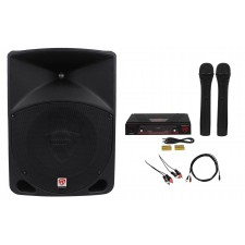 """Rockville Powered 10"""" ipad/iphone/Android/Laptop/T.V. Karaoke Machine/System"""