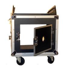 Pro X T-10MRSS 10U x 10U Slanted DJ Rack Flight Case With Wheels+3/8