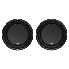 "(2) MTX 3510-04S 10"" 1200 Watt Shallow Car Audio Subwoofers Slim Subs SVC 4-ohm"