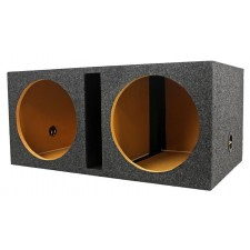 "Rockville RDV12 Dual 12"" Vented Subwoofer Enclosure Box 1.55 CU FT  3/4"" MDF"