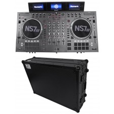Numark NS7III Four Deck DJ Controller W/3 LCD'S+Serato DJ Software + Flight Case