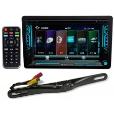 "Soundstream VR-63XB 6.2"" Double-DIN DVD Bluetooth Receiver MP3/SiriusXM+Camera"