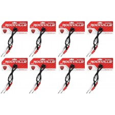 """8 Rockville RCDSM3B 3' 3.5mm 1/8"""" TRS to Dual 1/4"""" Y Cable 100% Copper"""