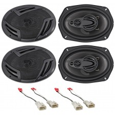 """Rockville 6x9"""" Front+Rear Factory Speaker Replacement For 2002-2006 Toyota Camry"""