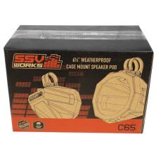 "2 6.5"" Rear Pro Fit Cage Harness Bar Speaker Pods Enclosures for Polaris General"