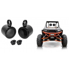 "Rockville MAC65B 6.5"" Rollbar Rollcage Speaker Cans 4 UTV,RZR,Cart,Polaris,Jeep"