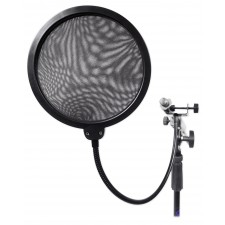 Rockville DMS40 Microphone Boom Arm Studio Podcast Mic Stand+Clamp+Pop Filter