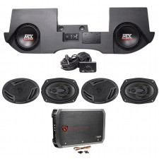"10"" MTX Subs+Box+Speakers+Amp for 2013-2016 Dodge Ram Quad/Crew Cab Powered Dual"