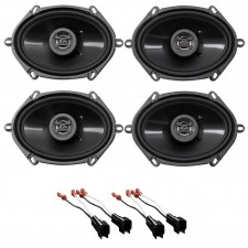 2000-2009 Mercury Sable Front+Rear Hifonics Speaker Replacement Kit